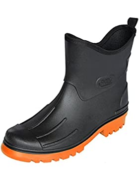 Bockstiegel Herren Gummistiefel Peter - schwarz/orange