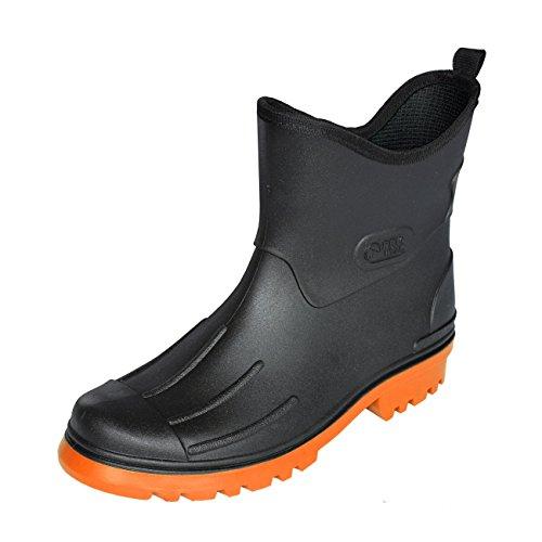 Bockstiegel Herren Gummistiefel Peter - schwarz/orange, Größe:45, Farbe:schwarz/orange