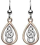 Heritage Sterling Silver Celtic Teardrop Drop Earrings