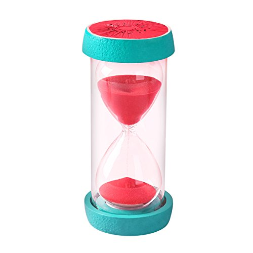 Besttimes 30 Minute Sanduhr Sicherheit Mode Sanduhr Sand Uhr für Kinder, Dekoration, Souvenir, Spiele, Weihnachten Geburtstagsgeschenk (Wassermelone)