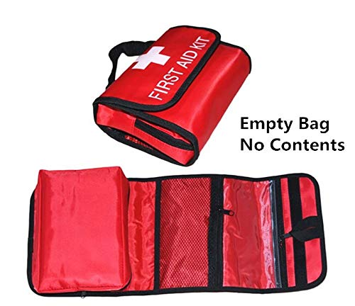 Jipemtra Erste-Hilfe-Tasche, leer, für Erste-Hilfe-Rucksack, klein, wasserdicht, für Erste-Hilfe-Kits, Notfall-Wandern, Rucksackreisen, Camping, Reisen, Auto, Radfahren