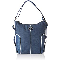 caminatta Rompeolas, Bolso mochila para Mujer, Azul (Marino) 12x30x27 cm (W x H x L)