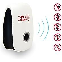 Pase el cursor sobre la imagen para hacer un zoom Control de plagas ultrasónico Repelente -Electronic Plug -En repelente para Insects- mejor repelente para, cucarachas, roedores, moscas, cucarachas, hormigas, arañas, pulgas, un ratón y otros Insects- Blanca
