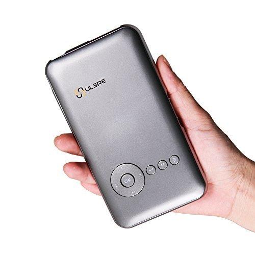 ULBRE Mini Projecteur DLP Wifi Portable Vidéoprojecteur Théâtre Multimédia Home Cinéma famille beamer HDMI Android 4.4 Ultra-Mince