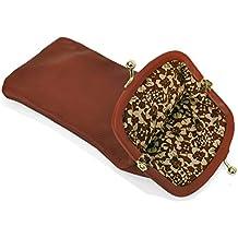 Mala Leather Étui à Lunettes en Cuir Nappa Souple et Mince avec Fermeture Languette 5104_14m Rosé 7yRtF15q8