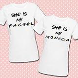 Coppia di t-shirt She is my Rachel + She is my Monica, serie tv Friends inspired, idea regalo per migliori amiche