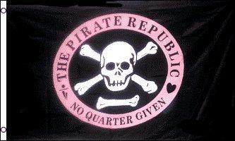 AZ FLAG Bandera de la Republica DE LOS Piratas ROSO 150x90cm -...
