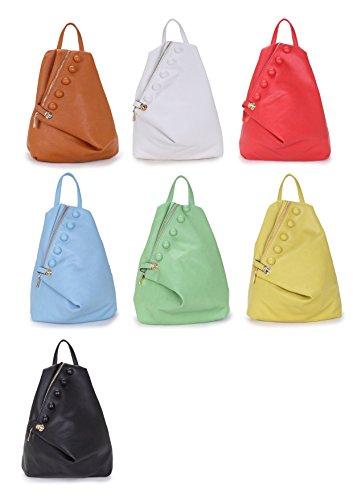 Yasmin Borse Donna Zaino, Grande, Stile: Borsa, Con Dettagli Bottone E Cerniera Rosa Z13169