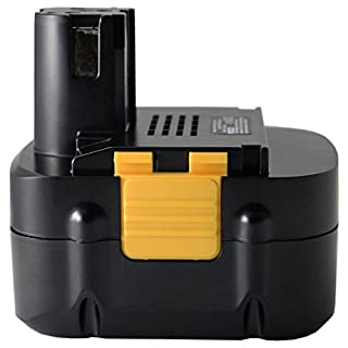 Amsahr PAN15.6 Replacement Power Tools Battery for PANASONIC EY9136B, EY9136, EY9137, EY9230, EY9230B, EY9219, EY9221-(3.0Ah, 15.6V), Black