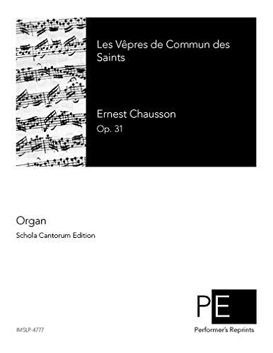 Les Vêpres de Commun des Saints, Op. 31