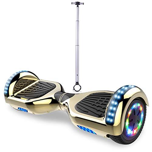 RCB Hoverboard Scooter elettrico da 6.5 pollici con ruote lampeggianti UL2272 + Manubrio Accessori per hoverboard per bambini e adulti