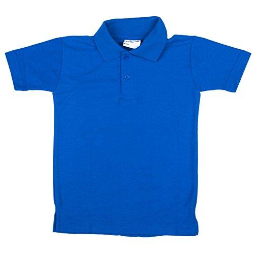 Neue OU Unisex Schuluniform Polo Shirt Sport Top Shirt verschiedene Farben Größen: 20-48 Blau - Königsblau