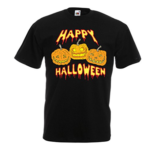 Männer T-Shirt Happy Halloween! Party Outfits & Costume - Gift Idea (XX-Large Schwarz ()