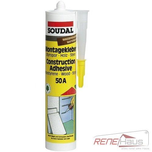 Soudal Montagekleber 50A Hartkleber Baustoffkleber 310 ml