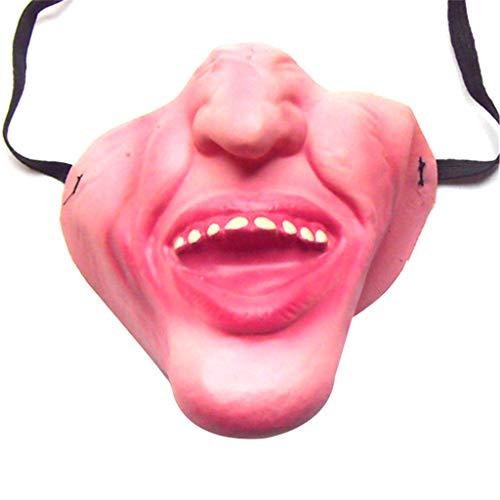 WWVAVA Maske 2019 lustige Erwachsene Partei Maske Latex Clown Cosplay halbes Gesicht schrecklich gruselig Masken Maskerade Halloween Party Decor Halloween, 2 (Halloween 2 Maske 2019)