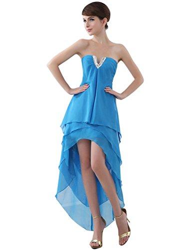Sarahbridal Damen Chiffon Bandeau Abendkleider Ballkleid Asymmetrisch Cocktailkleid Lace-up...