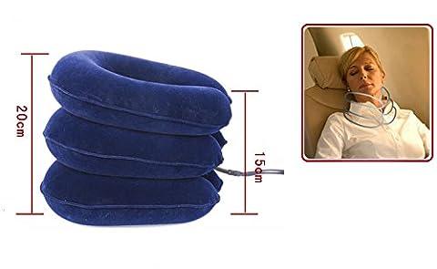 risingmed cervical gonflable cou col de traction arrière civière soulager la douleur Collier