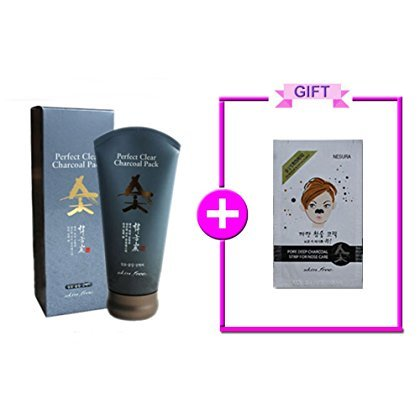 NESURA Perfect Clear Charcoal Pack + Charcoal Pore Strips -