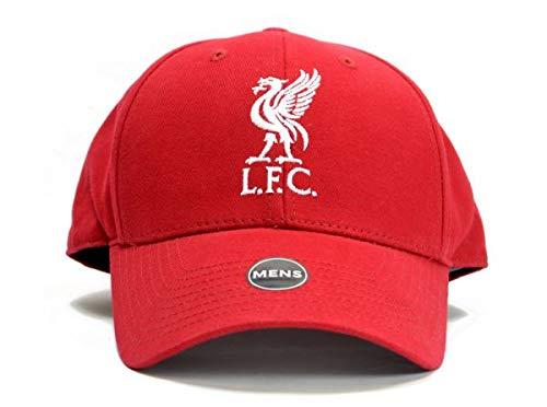 Liverpool LFC Fußball Baseballmütze plain rot Klettverschluss offizielle -