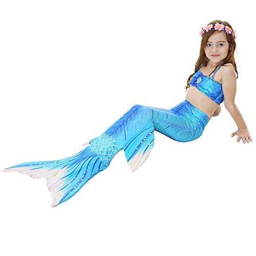 sommer-Strand 3PCS Meerjungfrau-Endstück-Badeanzug-Prinzessin Swimwear Bikini-gesetzter Schwimmen-Kostüm Mädchen Geschenk (Farbe : JP101, Größe : 140) (Männlich Schwimmen Kostüme)