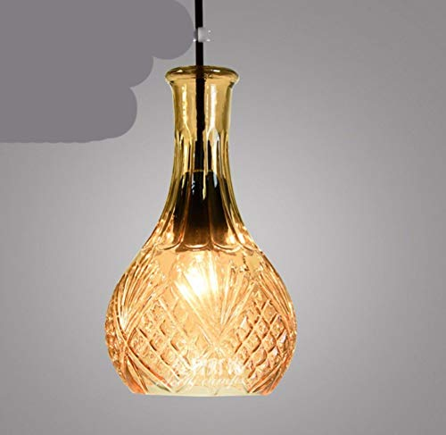 Led Bar Personalized Living Room Bedroom Glass Lamp Amber 14 * 24Cm Studie Stillvoll Elegant (14 Sky-laternen)