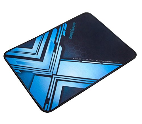 ShiRui MP02 Extended Ultra-Smooth Gaming Mauspad / Matte mit cooler Farbe – XL Großes, breites (langes) schwarzes & blaues Mousepad, genähte Kanten | 12.6″x9.45″x0.12″(Schwarz und Blau, L) - 2