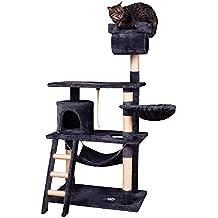 MC Star Árbol para Gato con Rascador de 141cm,Arañazo Juguete de Gatos de Sisal