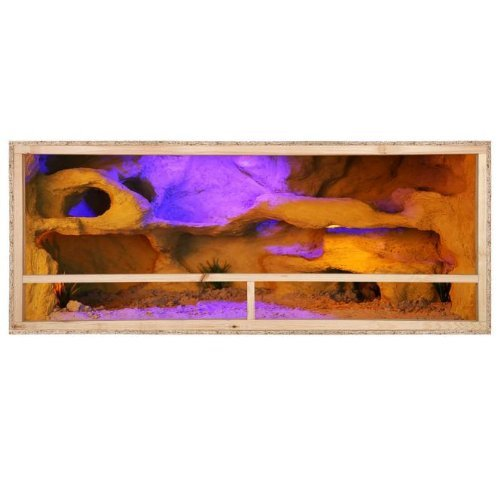 Repiterra® Terrarium aus Holz 150cmx60cmx60cm mit Seitenbelüftung aus OSB Platten mit Floatglas