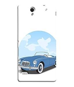 Fuson Designer Back Case Cover for Sony Xperia C4 Dual :: Sony Xperia C4 Dual E5333 E5343 E5363 (Driving Fast Racing Wheels Luxury car)