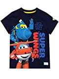 Super Wings Camiseta de Manga Corta para niños Jett y Jerome Azul 4-5 Años