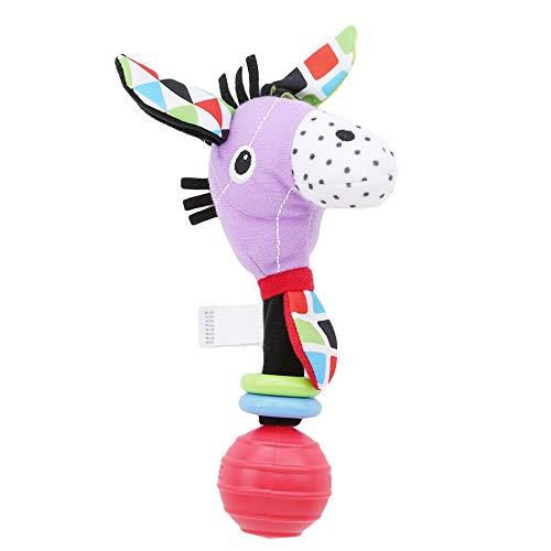 Ellepigy Baby Hand Bell Stick Animals Shaped Catoon Hand Rattle Kid Plush Soft Toy, Horse (Kleinkinder Pferde Stick Für)