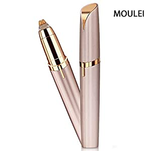 MOULEI Eyebrow Hair Remover Electric Painless Trimmer For Women Portable Eyebrow Hair Removal With Light Battery Included