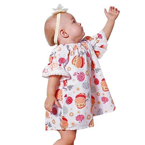 Kleinkind Babykleidung Kürbis Druck Karikatur Babykleid Rosennie Halloween Kostüm Ausstattungen Kleider Baby Mädchen Kleidung Kleider Lace up Party Kleid A-Line Casual Blumenkleider für ()