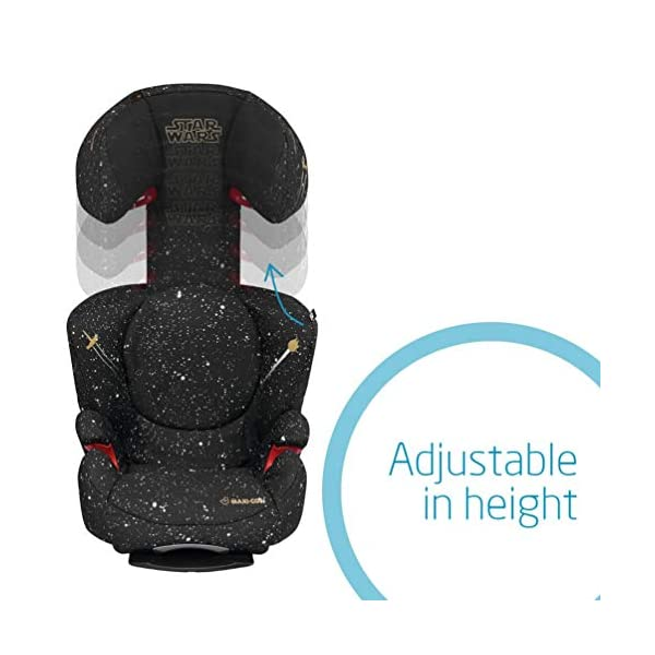 Maxi-Cosi Rodi AirProtect Child Car Seat, Lightweight Highback Booster, 3.5-12 Years, 15-36 kg, Star Wars Maxi-Cosi Child car seat, suitable from 3.5 to 12 years (15-36 kg) Easily install this safe car seat with a three point seat belt and attach the anchorage point in the head rest through your cars head rest Patented AirProtect technology in headrest reduces the risk of head and neck injuries up to 20 percent 6