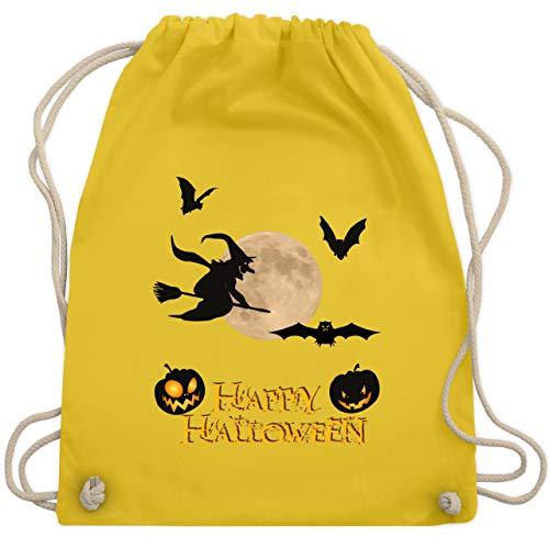 Halloween - Happy Halloween Mond Hexe - Unisize - Gelb - WM110 - Turnbeutel & Gym ()