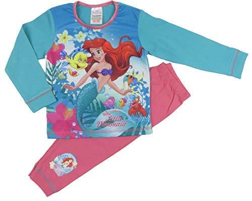 (Disney Princess Kleiner Meerjungfrau und Tinkerbell Pyjama 18months to 3-4 Years - The Little Mermaid Grün Rosa, 104)