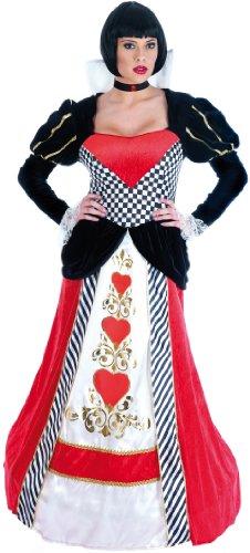 Queen Of Hearts Long Dress - Alice Madness Kostüm