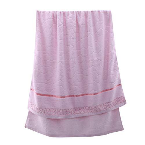 VWH Cotton Badetuch Größe 70x140cm zum Duschen(Rosa) (Burgund Zahnbürstenhalter)