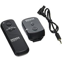 Neewer DSLR - Disparador inalámbrico de cámara, 320 pies /100m, control remoto del obturador con 2.4G 16CH receptor transmisor para Canon EOS 7D/5D Series/1D/6D/50D/40D/30D/20D/10D