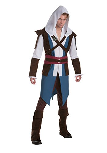 Assassins Creed Edward Kenway Mens Fancy dress costume X-Large (Edward Kenway Kostüm)