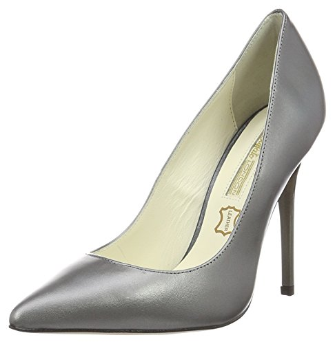 Buffalo London Damen 11335x-269 L Casiopea Nacar Pumps Grau (PLUTON 01)
