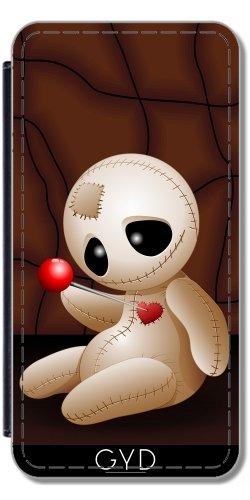 Leder Flip Case Tasche Hülle für Iphone X - Voodoo-Puppe Karikatur In Der Liebe by - Halloween Rituali X