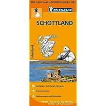 Michelin Schottland: Straßen- und Tourismuskarte 1:400.000 (MICHELIN Regionalkarten)