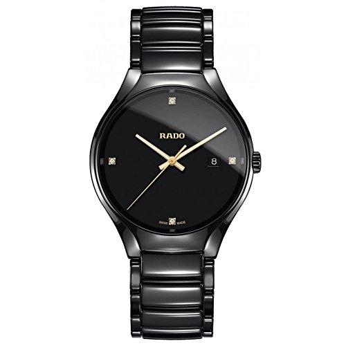 Rado Homme 40mm Bracelet & Boitier Céramique Noir Quartz Montre R27238712