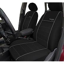 Universal Sitzbezüge für BMW Serie 3 E46 Schwarz Autositzbezug Schonbezüge Set