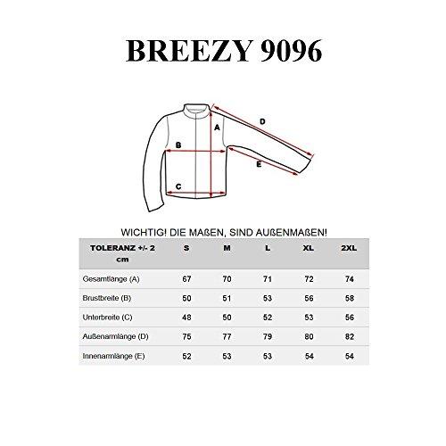 BOLF – Sweat-shirt á capuche – Manches longues – U-neck – BREEZY 9096 – Homme Noir