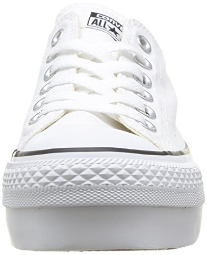 Converse, A/S Ox Platform Canvas, Sneaker, Donna White