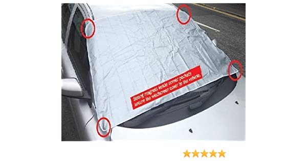 Bluecol Magnetic Car Front Back Windscreen Snow Frost Ice Screen Cover Protector