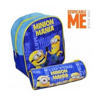 Kids Euroswan – Minions MN16114. Set mini mochila 24cm + portatodo 22cm.