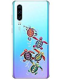 Oihxse Funda para Huawei Honor 20S/PLAY3 Transparente, Estuche con Huawei Honor 20S/PLAY3 Ultra-Delgado Silicona TPU Suave Protectora Carcasa Océano Animal Serie Bumper (C7)